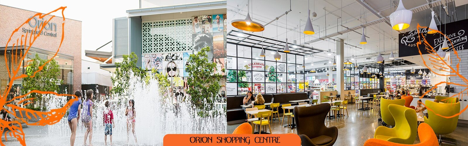 A dining room at Orion shopping centre